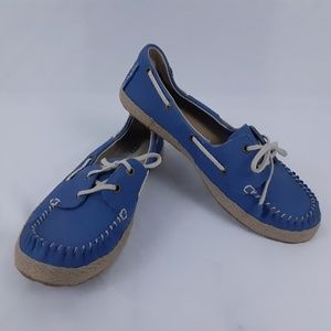 UGG Flats Blue Leather Womens Size 7.5